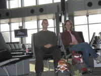 Zac and Sera at RDU airpot