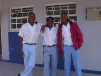 students at Ekulo Senior Secondary School northern Namibia