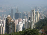 View of Hong Kong Island from Victoria Peak