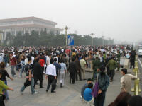 Crowds at Tiananmen Square on National Day