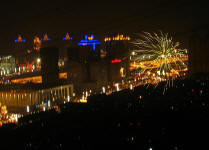 Fireworks over Xinghai Square