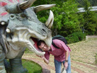 dinosaur at Dalian Zoo